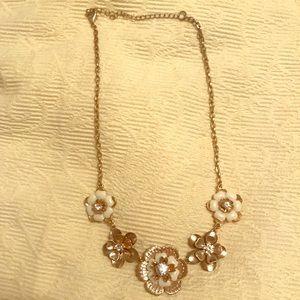 Gold floral necklace